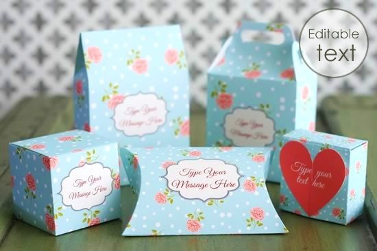 Favorite Free Printable Gift Box Templates - Pillow Box and Others OY07