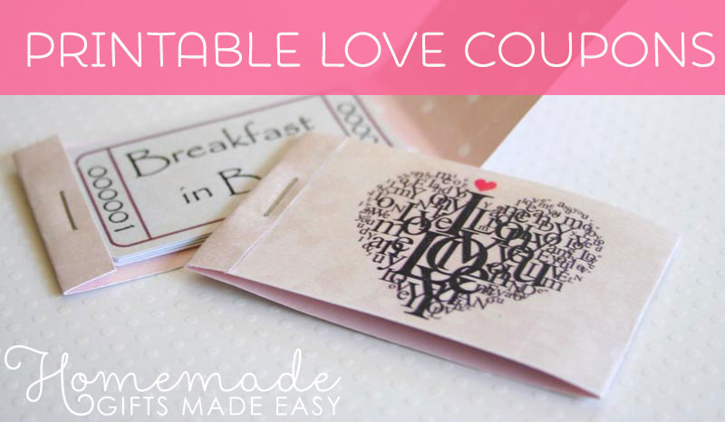 romantic coupons printable christmas gift - Easy Christmas Gifts To Make