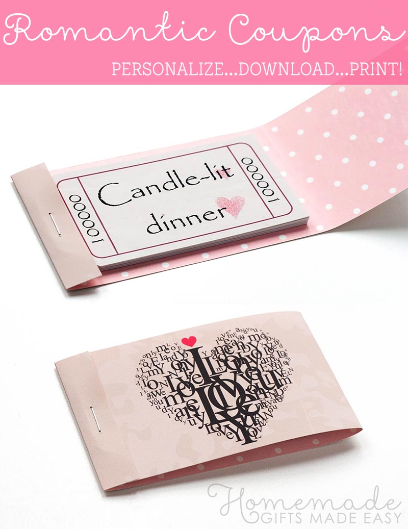 romantic coupons booklet cover assembly these are a fabulous last minute homemade christmas gift idea