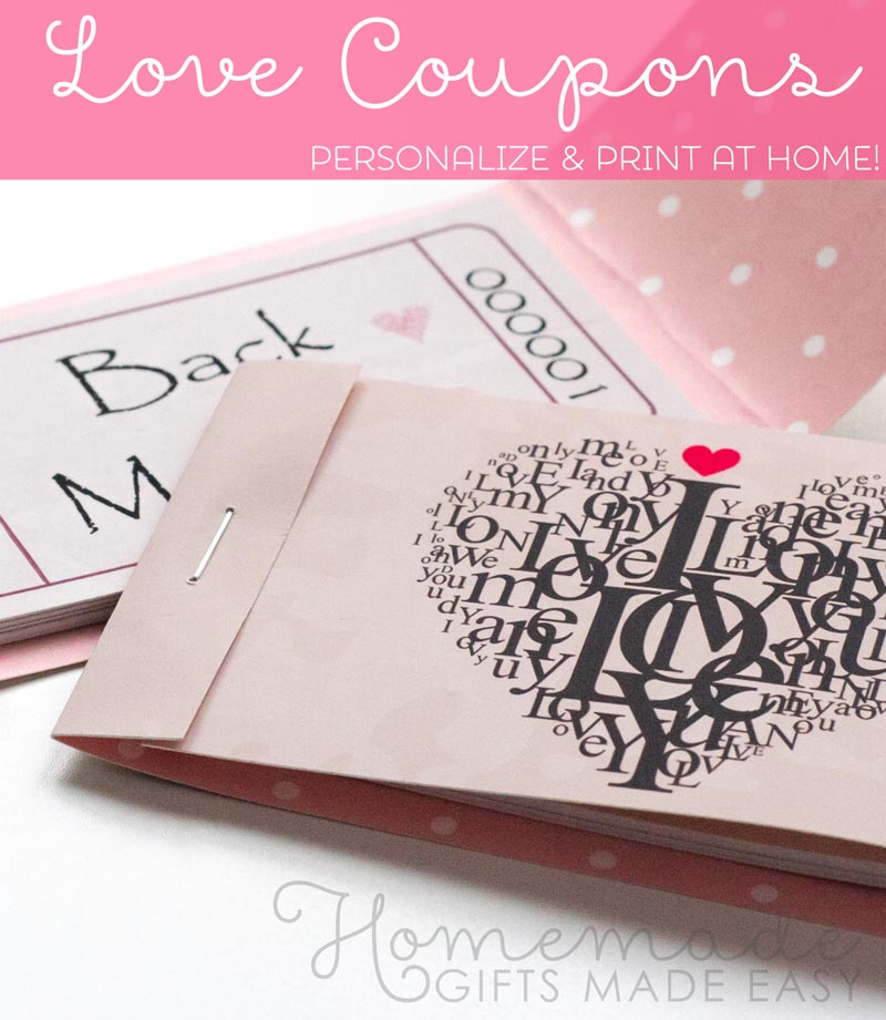 romantic coupons wedding anniversary gifts