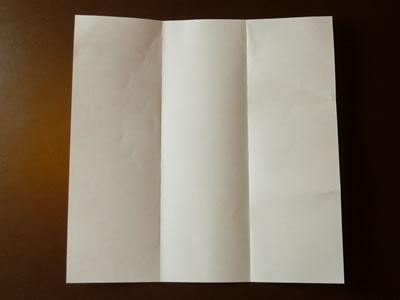 origami envelope folded in thirds