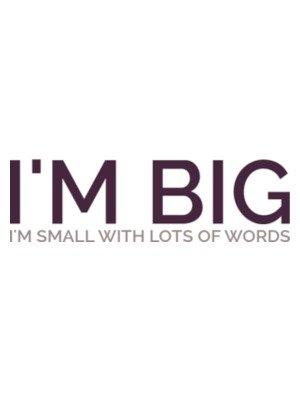 big vs small text