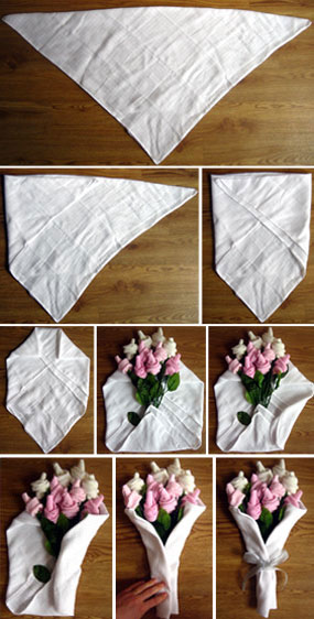 baby sock rose bouquet instructions