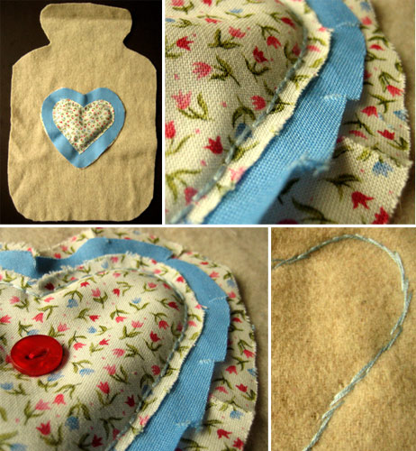 beginners sewing projects hot water bottle cover 6