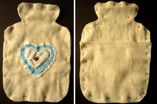 beginners sewing projects hot water bottle cover 7