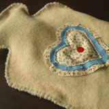 homemade valentine gifts - hot water bottle cover