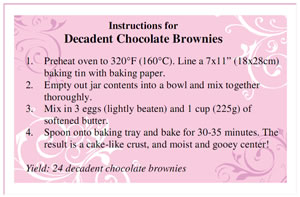 Homemade Brownies In A Jar Mix My Favourite Recipe
