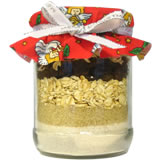 homemade gifts in a jar oatmeal holiday cookies