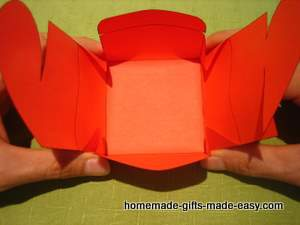 free heart gift box template assembly step 2