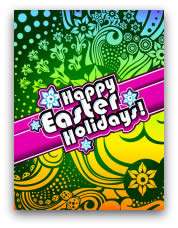 free printable easter cards retro