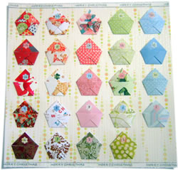 origami homemade advent calendar pattern