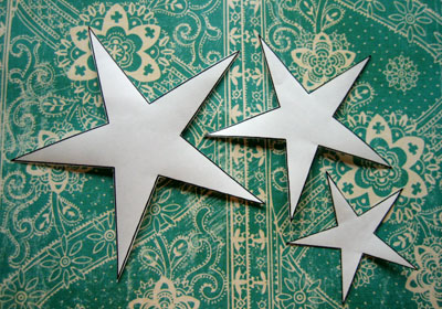 homemade christmas card ideas stars