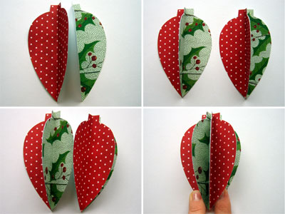 Homemade christmas ornaments to make for Paper christmas decorations to make at home