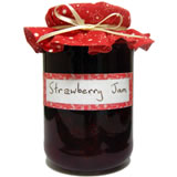 homemade gifts in a jar strawberry jam