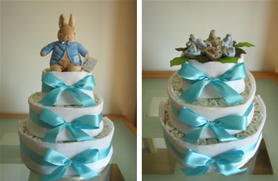 how to make diaper cakes decorations