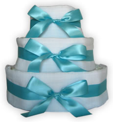 how to make diaper cakes - ribbon bows