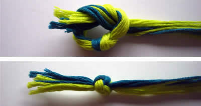 how to make friendship bracelets braiding knot 2