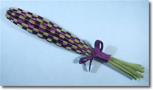 how to make lavender wands step 8