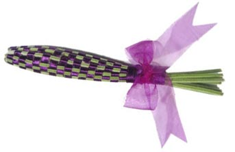 how to make lavender wands finished