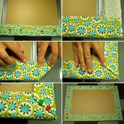 make a bulletin board easy fabric memo board instructions