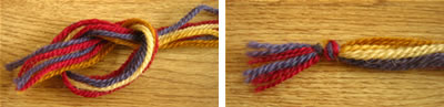 make a friendship bracelet step 2