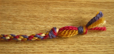 make a friendship bracelet step 6