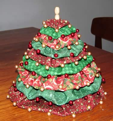 make a miniature christmas tree finished