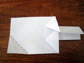 money origami christmas tree step 7