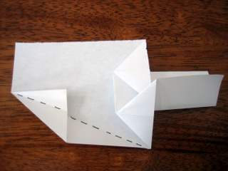 money origami christmas tree step 8