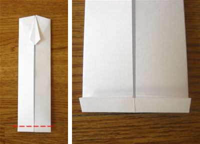 money origami shirt and tie step 10