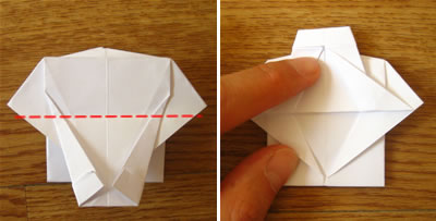 money origami shirt and tie step 15