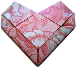 Fold An Origami Heart Envelope