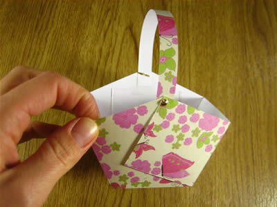 Paper Easter Basket Step 4