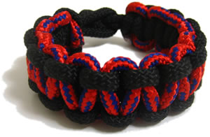 paracord bracelet two colors finished
