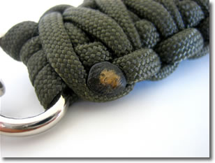 paracord lanyard melt end