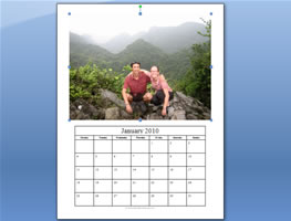 photo calendar template step 6