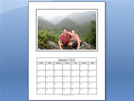 photo calendar template step 7