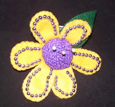 pin cushion patterns flower