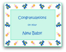 free printable easter cards vintage - New Born Baby Card
