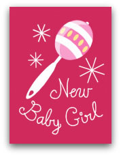 printable baby cards girl