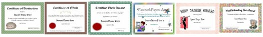 printable gag certificates header