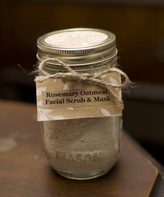 Rosemary Oatmeal Facial Scrub & Mask in