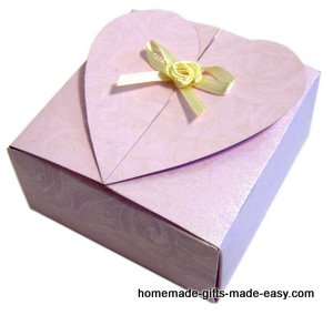 Free Heart Gift Box Template Finished  Gift Box Template Free