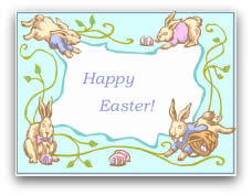 free printable easter cards bunny frame