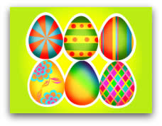 free printable easter cards eggs