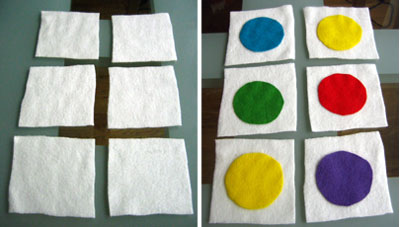 making soft blocks felt circles