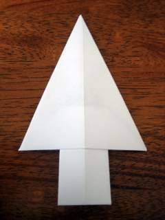 money origami christmas tree step 10