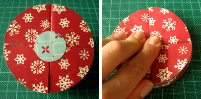 simple homemade christmas ornaments bauble step 5