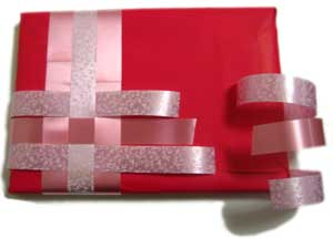 unique gift wrapping ideas ribbon weaving